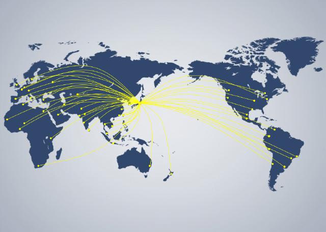 世界中の情報網